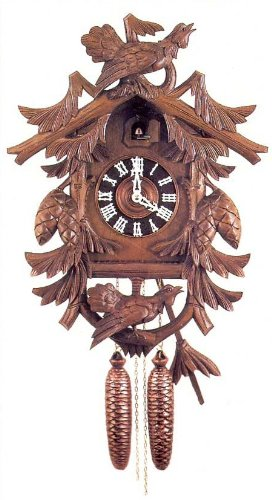 Original Eight Day Movement Historic Reproduction Cuckoo Clock with Special Deep Carving and Wooden Dial 21.5 Inch (Reproduction Cuckoo Clock)