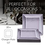 SQUARE DISPOSABLE CHARGER PLATES - 20 pc