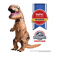 Disfraz inflable de Rubie adulto, mundo jurásico T-Rex