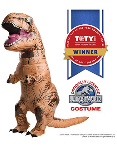 Rubie's Adult Official Jurassic World Inflatable Dinosaur Costume, T-rex, Standard -
