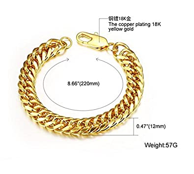 Ubeauty1999 Heavy Metal Cuban Curb Link Chain Mens Bracelets Solid Stainless Steel Bracelet