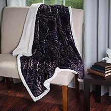 Stylish Coral Soft Fleece Sherpa Throw Blanket (Purple)