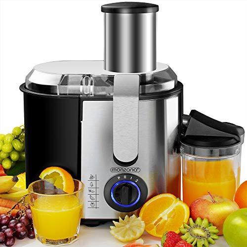 2 Speed Setting Fruit Juicer for Whole Fruit and Vegetable,BPA-Free,Non-Slip Feet Juicer Juice Extractor Aicok 800W Juicer Machine 75MM Wide Mouth Stainless Steel Centrifugal Juicer