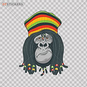 Amazon Decal Stickers Jamaican Rasta Gorilla Motorbike Boat Resting President Ape Sign 4 X 299 Inches Fully Waterproof Printed Vinyl Sticker