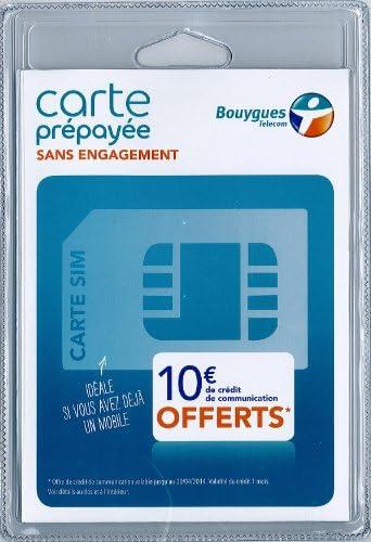 carte sim gratuite bouygues CARTE SIM BOUYGUES   CARTE SIM PREPAYEE SANS ENGAGEMENT BOUYGUES