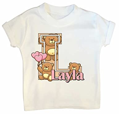 f1eb3fcba Girls personalised T shirt - Teddy Bears | 1st 2nd 3rd 4th 5th birthday T  shirts ...