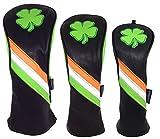 ReadyGolf Irish Shamrock Headcover Set - Driver, Fairway, Hybrid