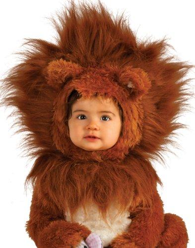 [Rubie's Costume Co Unisex-baby Infant Noah Ark Lion Cub Romper, Brown/Beige, 12-18 Months] (Kids Animal Halloween Costumes)