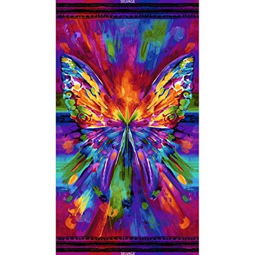Timeless Treasures Digital Prints Awaken Butterfly Panel 24 inch from Timeless Treasures