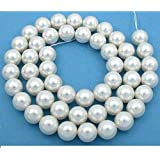 50 White Swarovski Crystal Pearl Beads Jewelry 12mm deal 2017