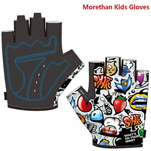 Kids Cycling Gloves Morethan Brand M1706 Half Finger Gel Pad Breathable skip-proof abrasion proof absorb shock reduce numbness thickening for boys girls riding Mountain or Road bike -  LXCtech