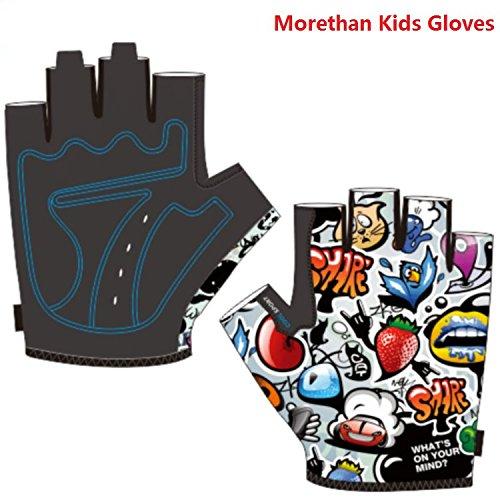 Kids Bike Gloves for Boys Girls Age 4 5 6 7 8 9 10 11 12 Optional, Fabric, Colourful, Lively Mountain Bike Gloves