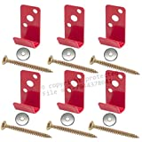 (Lot of 6) Fire Extinguisher Bracket, Wall Hook, Mount, Hanger for 2 1/2 gal. Stainless Steel Water Pressure, Old Brass Extg. etc, NO SCREWS or WASHERS