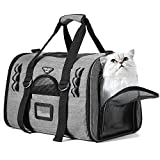 TOURIT Soft Sided Cat Carrier Airline Approved Under Seat Sturdy Pet Travel Carrier with 2 Fleece Pads for Small Dogs and Cats Ideal for Vet Visits Outdoor For Sale