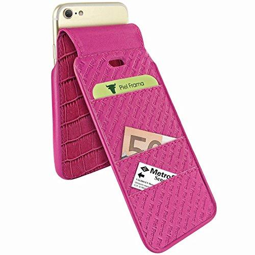 Piel Frama U7 60COP Etui souple en cuir pour iPhone 7 Crocodile Fuchsia