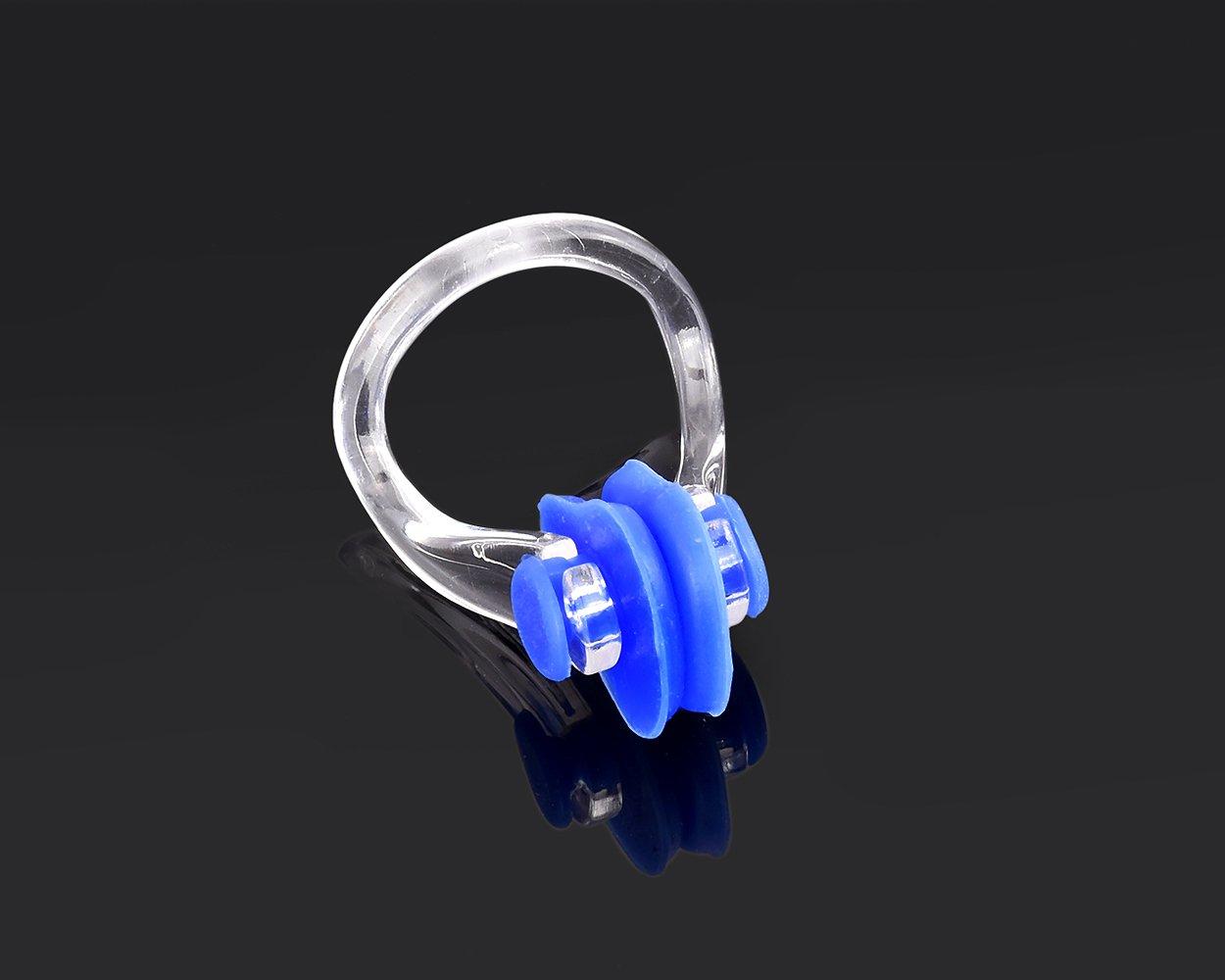 DSstyles 3 piezas de PVC de silicona nariz de nataci/ón nariz acortar enchufe nariz de nataci/ón para adultos