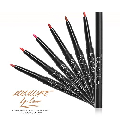 9-19 PC Different Colors Ultra Fine Auto Lip Liner Lip contour, Set of 9/10/ 19 Professional Waterproof Lip Liner, no need to sharpen (10 PC (1-10))