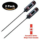 Cooking Thermometer - [2 PACK] Kitchen Thermometer for Meat, BBQ, Baby Food, Grill, Baby Bath. Digital Thermometer with Instant Read LCD Screen. Batteries included.