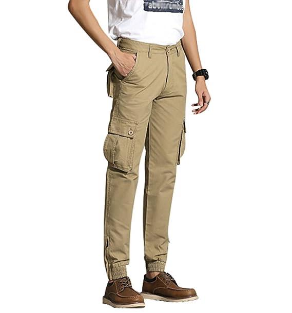 ZhiYuanAN Hombre Pantalones De Camuflaje Multibolsillos De ...
