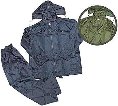 Fratelliditalia Completo Kit Impermeabile Kway Pantalone Cappuccio Pioggia Moto Sport
