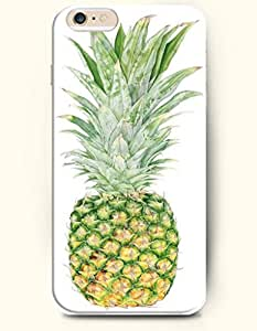 OOFIT Hard Phone Case for Apple iPhone 6 Plus ( iPhone 6 + )( 5.5 inches) - Green Pineapple - Oil Painting