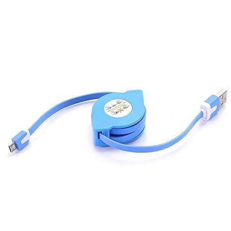 feiaopo Cable USB, Cable retráctil cargador USB Universal ...