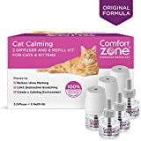 Comfort Zone Basic Calming Diffuser Kits for Cat Calming, 3 Diffusers, 6 Refills