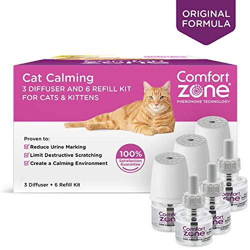 Comfort Zone Basic Calming Diffuser Kits for Cat Calming, 3 Diffusers, 6 ()