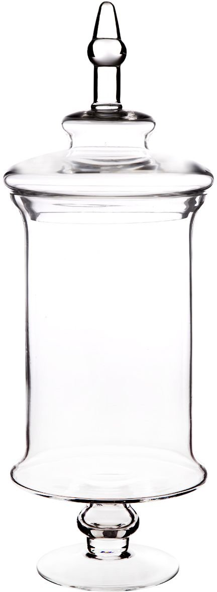 Elegant 21'' Clear Glass Apothecary Jar with Lid - High Glass Canister - Home Decor & Party Centerpiece … by Home Essentials