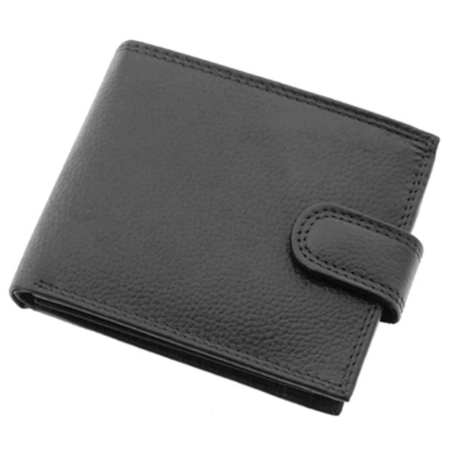 Mens Black Leather Wallet - Bruno Antonini, Coin Purse/Credit Cards, 101