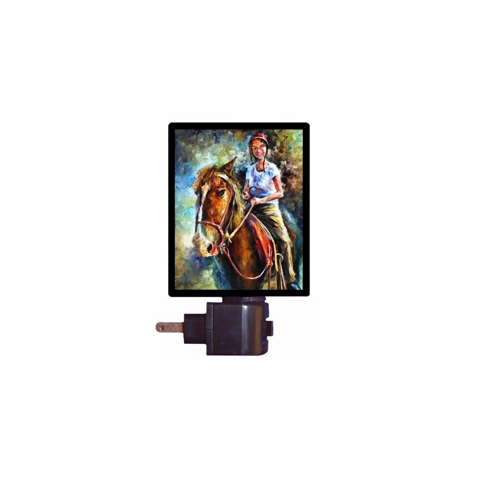 Horse Night Light   My Little Friend   Girl on Horse LED NIGHT LIGHT