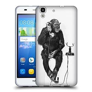 Los diseños de la funda de la cabeza de con forma de mono de animales suave de llamada entrante de diseño de gotas de agua diseño con texto en inglés carcasa de Gel para/Huawei Y6 Honrar 4 A