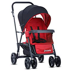 The Caboose Graphite is a must-have for parents strolling with children of different ages because it offers double stroller features in a compact size. The Caboose empowers older siblings and they love riding on the back of the Caboose. Toddl...