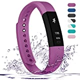 Fitness Tracker - Teslasz Bluetooth 4.0 Sleep Monitor Calorie Counter Pedometer Sport Activity Tracker for Android and IOS Smart Phone - Purple