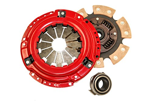 Yonaka Honda D-Series 6 Puck Stage 3 Performance Heavy Duty Clutch Kit Set Ceramic Disc D15 D16 D17 - 6 Puck Clutch Kit