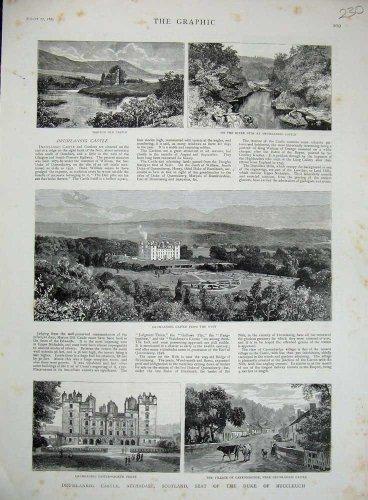 - old-print Print0270 1885 Drumlanrig Castle Nithsdale Scotlandnd Buccleuch 230N730