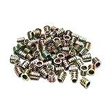 ZXHAO M8x15mm/0.31 x 0.59 inch Zinc Alloy Hex Socket Head Furniture Threaded Nuts 100pcs
