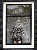 Arts & Crafts : 280+ REUSABLE Christmas Snowflake Window Clings Decorations Stickers White Snowflakes for Windows Decal Winter of Wonderland Ornaments Party Supplies and Decor