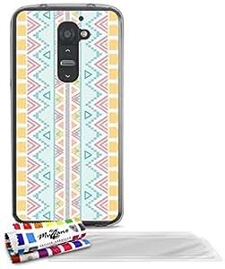 """Carcasa Flexible Ultra-Slim LG G2 de exclusivo motivo [Azteca] [Gris] de MUZZANO  + 3 Pelliculas de Pantalla """"UltraClear"""" + ESTILETE y PAÑO MUZZANO REGALADOS - La Protección Antigolpes ULTIMA, ELEGANTE Y DURADERA para su LG G2"""