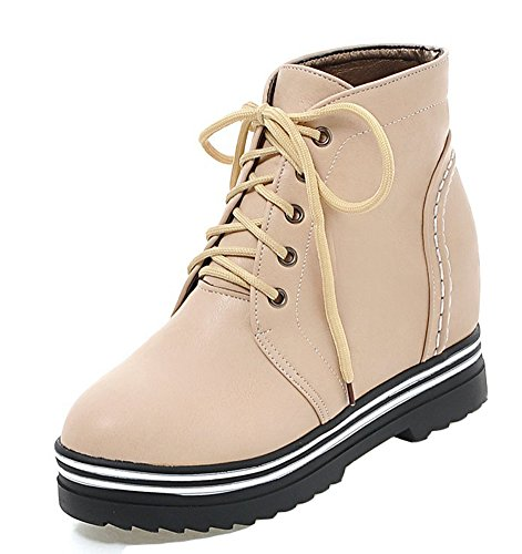 Boot Platform apricot Durable Lace Shoes Up Women's Aisun q8nwTWXAT