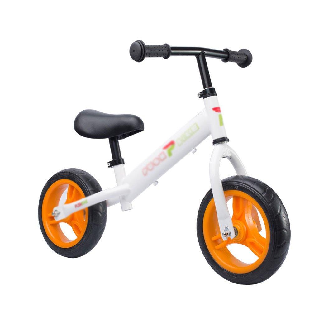 ベビースクーターペダルバランスなし車バギー子供スクーターペダルなし子供スクーターベビースクーター2ラウンドウォーカー2色1-3-6歳 B07F33MPQV Orange Orange