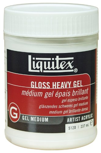 Heavy Gel - Liquitex 5120  Professional Gloss Heavy Gel Medium, 8-oz