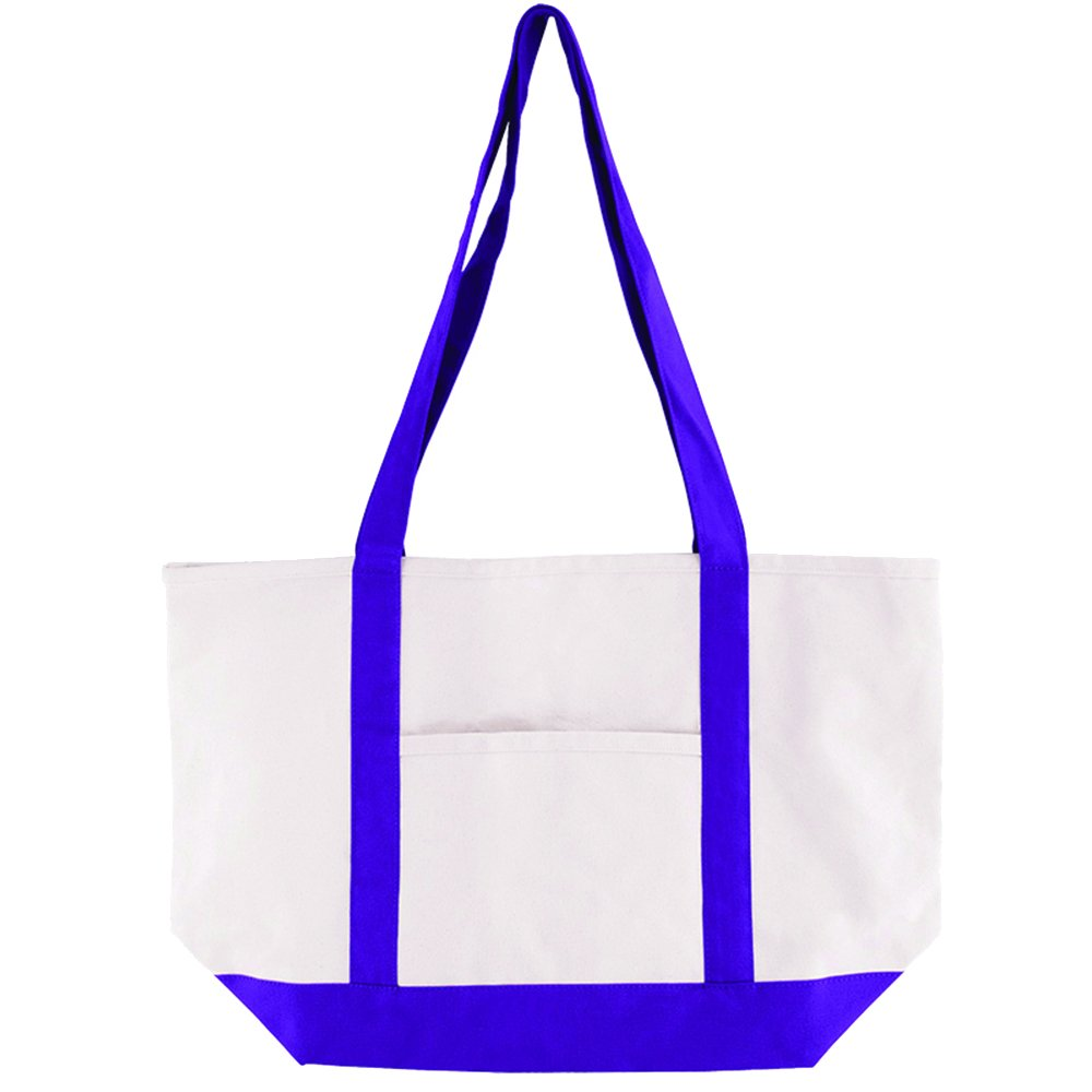 Cotton Canvas Boat Tote - 25 Quantity - $12.15 Each - PROMOTIONAL PRODUCT / BULK / BRANDED with YOUR LOGO / CUSTOMIZED by Sunrise Identity (Image #3)