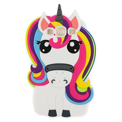 BOLOTO Galaxy S3 Case, 3D Cute Cartoon Rainbow Unicorn Horse Animal Soft Silicone Rubber Protector Skin Case Cover for Samsung Galaxy S3 S III I9300 (Cover S3 Samsung 3d Galaxy Case)