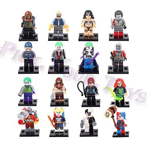 gg Joker Harley Quinn Suicide Squad Custom 16 PCS Minifigure Building Toys
