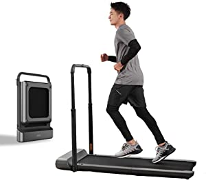 QERNTPEY TreadmillTreadmill Manual/Automatic Modes Folding Walking Pad Non-Slip Smart LCD Display 10Km/H Running Fitness EquipmentFor Home