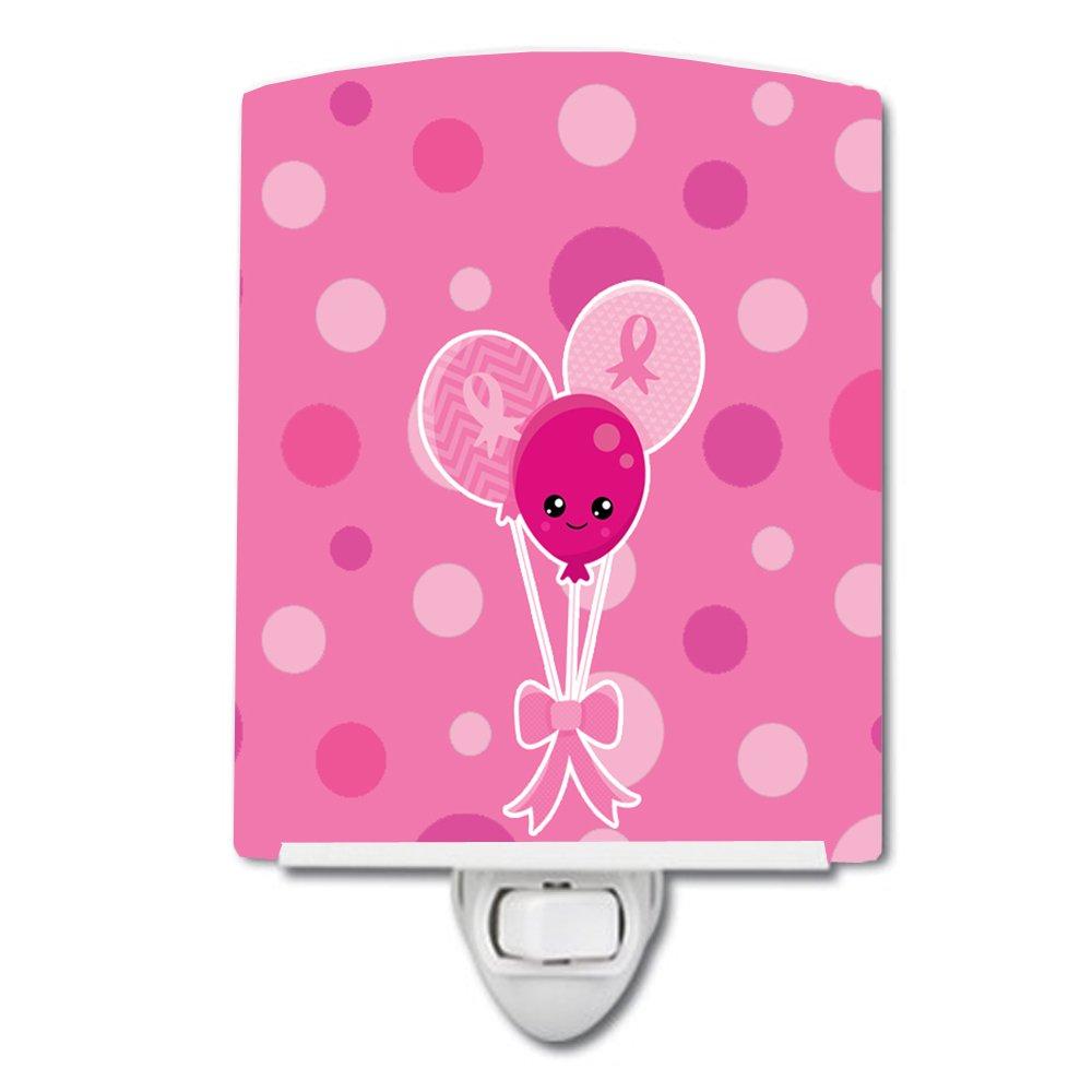 Carolines Treasures Breast Cancer Awareness Ribb Ceramic Night Light 6 x 4 Pink Believe