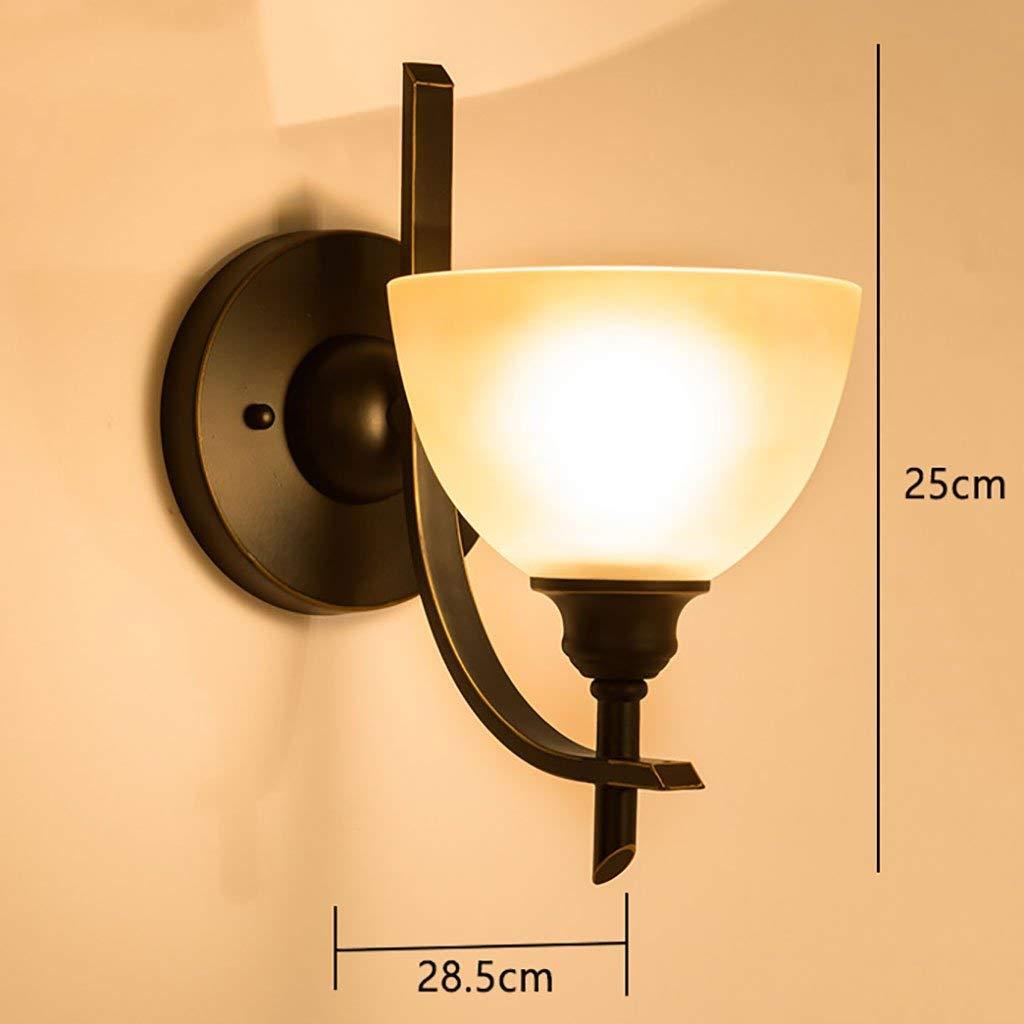 Unbekannt PIN Europäischen Stil Wandleuchte Nachttischlampe Amerikanischen Stil Wohnzimmer Schlafzimmer Wandleuchte Eisen Licht Lampen