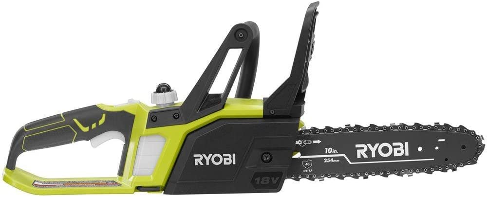 Ryobi ZRP547 10 in. One Plus 18-Volt Lithium Cordless Chainsaw with Battery and Charger Renewed