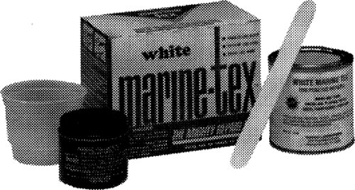 Marine-Tex Epoxy Putty Gray 12 Ounce (3/4 lb) Kit